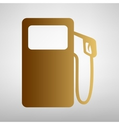 Gas pump sign flat style icon vector