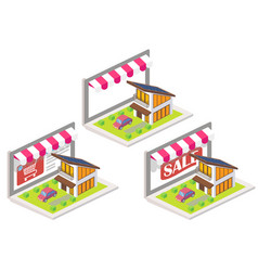 house online 3d isometric vector image vector image