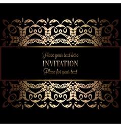 Invitation decorative 24 vector image vector image