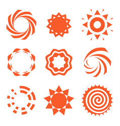 Isolated abstract round shape orange color logo vector