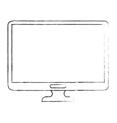 Isolated computer screen vector