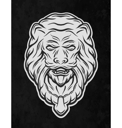 Lion head door On a dark background vector image