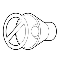 No sound mute icon outline style vector