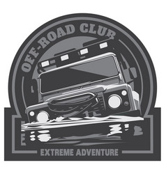 Off-road car logo safari suv expedition vector