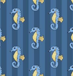 Seahorse seamless vector image vector image