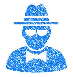 Secret agent grunge icon vector