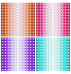 Set of four colorful geometric patterns vector image