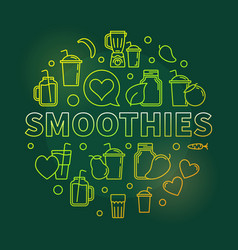 Smoothies green round symbol vector