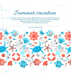 summer vacation grunge paper background vector image