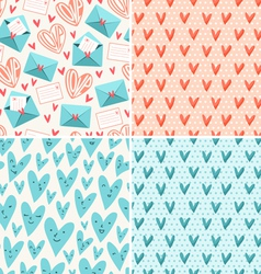 Valentines patterns vector