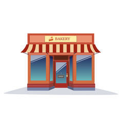 Shop bakery modern style with isolated white vector