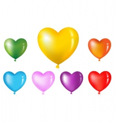 Heart shape balloons vector
