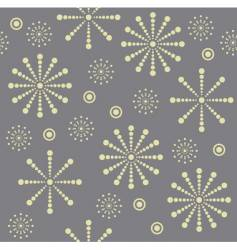 Snowflake seamless pattern vector