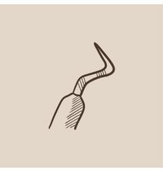 Dental scraper sketch icon vector