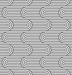 Curved striped seamless pattern vector image