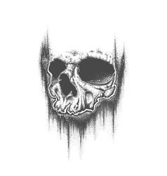Abstract dotwork grunge skull vector