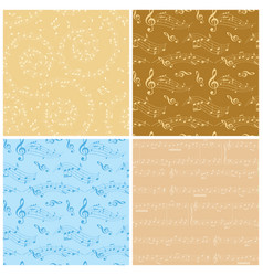 beige and blue backgrounds - seamless patterns vector image vector image