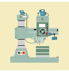 Boring mill vector