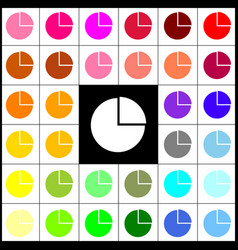 Business graph sign felt-pen 33 colorful vector