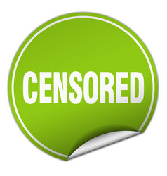 Censored round green sticker isolated on white vector