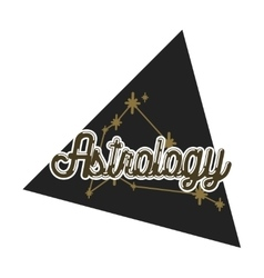 Color vintage astrology emblem vector