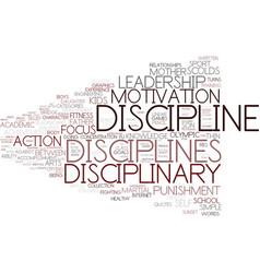 Disciplines word cloud concept vector