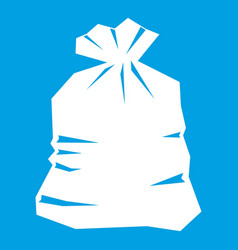 Garbage bag icon white vector