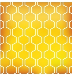 honey pattern on yellow background vector image vector image