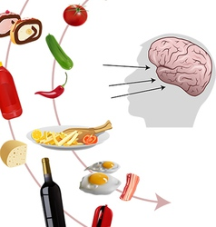 neurogastronomy vector image vector image