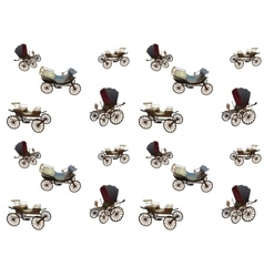 Old wagon for the horses seamless pattern vector
