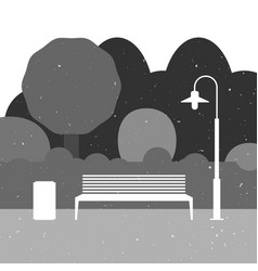 outdoor furniture silhouette vector image vector image