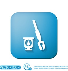 pen with ink icon vector image vector image