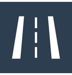 Road markings silhouette vector image