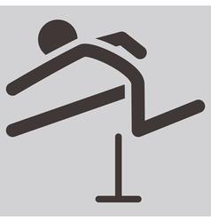 Running hurdles icon vector image