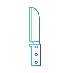 santoku knife degraded blue color contour vector image vector image