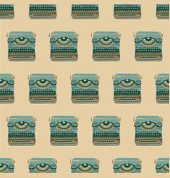 seamless pattern with vintage typewriters vector image