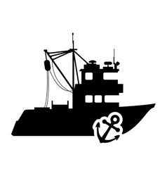 ship anchor transportation design vector image