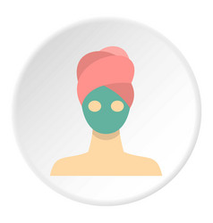 Spa facial clay mask icon circle vector
