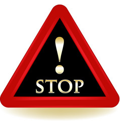 Stop warning sign vector
