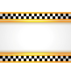Taxi background vector image vector image