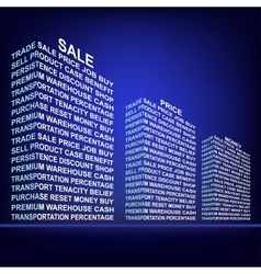 The building made up of words Trade vector image vector image
