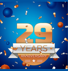 Twenty nine years anniversary celebration design vector