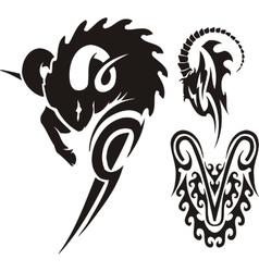 Zodiac Signs - aries Vinyl-ready set vector image