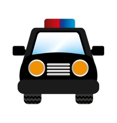 Police car patrol icon vector