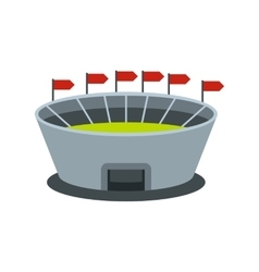 Round stadium with flags icon vector