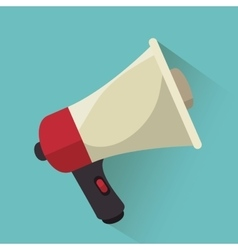 Megaphone speak news graphic vector