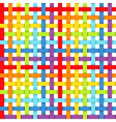 Seamless pattern with intersecting rainbow ribbons vector image