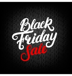 Black friday sale hand written lettering vector