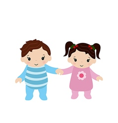 Toddler boy and girl vector