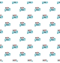 Label hot price pattern cartoon style vector